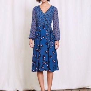 Boden Floral Print Eden Faux Wrap Dress